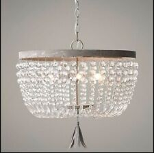 Restoration Hardware Dauphine Crystal Chandeliers Mint Condition!