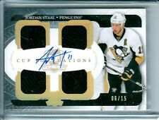 2011-12 The Cup Foundations Quad Jerseys Auto Jordan Staal /15 Pittsburgh PENS