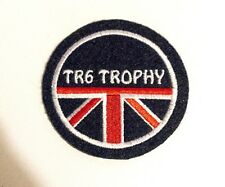 CLASSIC TRIUMPH TR6 TROPHY  MOTORCYCLE EMBROIDERED PATCH