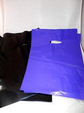"100 9"" x 12"" Glossy Purple & Black Low-Density Plastic Merchandise Bags"
