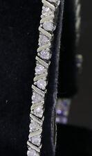 14K white gold elegant high fashion 2.0CT diamond tennis bracelet