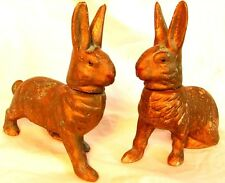 Antique Rabbit Candy Containers * Pair *Germany* Glass Eyes Antique !