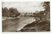 SOMERSET - RIVER PARRET, HIGH TIDE, BRIDGWATER   R.P. Postcard