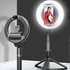 LED Ring Light with 90cm Tripod Stand Cell Phone Holder for Live Video Dimmable