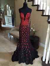 $640 NWT BLACK/RED JOVANI PROM/PAGEANT/FORMAL DRESS/GOWN #944A SIZE 6
