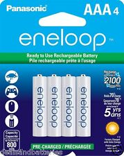Panasonic Eneloop AAA 4 Pk Rechargeable NiMH Batteries New Gen 800mAh 2100X