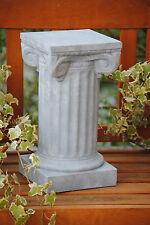 Säule Antik Stein Grau  Blumensäule Steingrau Garten Deko Shabby Stil Nr 1