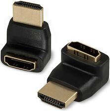 Enchufe hembra HDMI a macho HDMI en ángulo recto plug adaptador convertidor, 270 °, oro