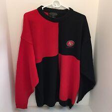 *Tundra Canada Mens Two-Tone Black Red Cosby  Sweater XL IU Varsity Club.Ba10580
