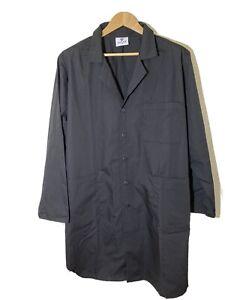 "Adar Universal Unisex Lab Coats - Classic 39"" Belted Black Size 48 Inside Pocket"