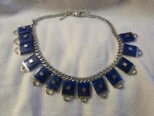NEW Eddie Borgo Lapis Inlaid Padlock Necklace - Retails $500+ - Gorgeous!