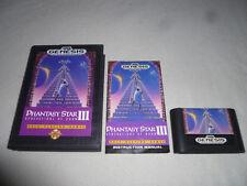 SEGA GENESIS GAME PHANTASY STAR III GENERATIONS OF DOOM W CASE & MANUAL RARE RPG