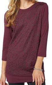Bonita UVP 50? Damen Pullover Shirt Longshirt lila Gr. S