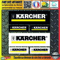 lot 6 Stickers autocollant KARCHER bricolage adhésif sponsor outillage decal