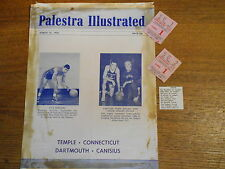 1956 Program COVER ONLY & Tickets Palestra Temple Connecticut Dartmouth Canisius