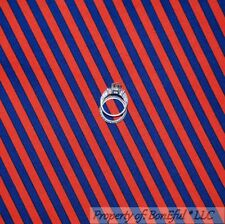 BonEful Fabric FQ Cotton Quilt Blue Red STRIPE American Military Patriotic Clown