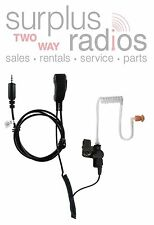 PRYME 2 WIRE DISCREET SURVEILLANCE HEADSET FOR KENWOOD PKT-23 PORTABLE RADIOS