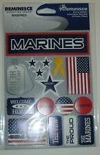 MARINES  DIE CUT STICKERS BY REMINISCE