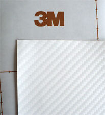 Film vinyle autocollant adhésif carbone blanc 3M DI NOC CA-419 100CM x 30CM