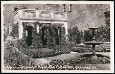 RICHMOND VA Edgar Allen Poe Memorial Garden & Fountain Vtg RPPC Postcard Photo
