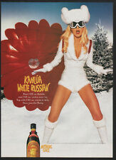 1999 KAHLUA - Sexy Blonde White Russian Woman - Anything Goes -  VINTAGE AD