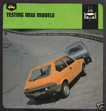 1978 FIAT RITMO CAR TESTING Picture AUTO RALLY CARD