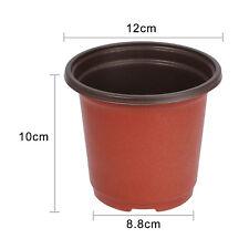 100pcs Small Plastic Round Flower Pot Terracotta Nursery Planter Home Decor