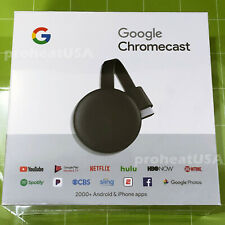 Genuine Google Chromecast Media Streamer 3rd Gen Digital HDMI HD (LAST VERSION)