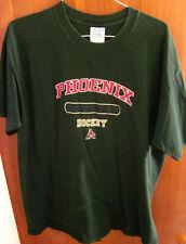PHOENIX COYOTES kachina logo 1990s hockey XL T shirt WHA green tee NHL