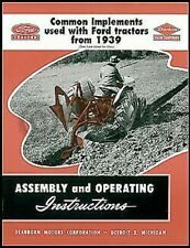 1939-1952 Ford Tractor Dearborn Implement Assembly and Operating Manual 2N 8N 9N