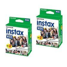 2x 20 Fuji Instax Grandangolo Pellicola per Fujifilm Istantaneo Fotocamere 210