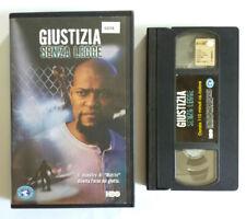 VHS Film Ita Drammatico GIUSTIZIA SENZA LEGGE Laurence Fishburne no dvd cd(V219°