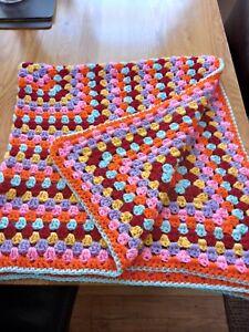 Vintage hand made crochet blanket