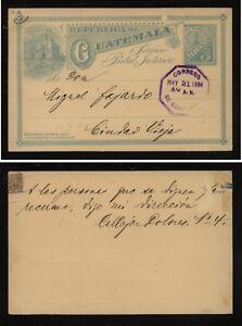Guatemala postal card local use  1894
