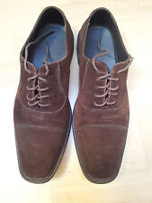 HUGO BOSS - V.280€ CHAUSSURES HABILLEES HOMME EN DAIM MARRON P.43 TBE
