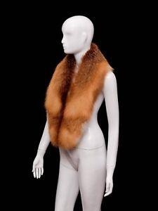 Saga Furs Fancy Red Fox Finest Quality Collar Shoulder Wrap 47''