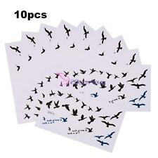 10 Sheets Waterproof Temporary Arm Tattoos Flying Birds Tattoo Sticker Body Art