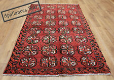OLD WOOL HAND MADE  ORIENTAL FLORAL RUNNER AREA RUG CARPET 190x110CM