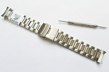 TAURUS® 20mm Solid SS Oyster Watch Band Bracelet Curved Ends Fits Seiko &Citizen