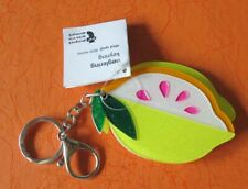 Fruit Shape Key Ring Plastic Lemon Mirror Keychain