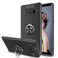 New Black Shock Proof Phone Case Ring Magnetic Stand For Huawei Samsung Models