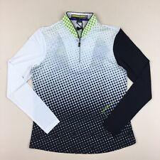 NWT $85 Jamie Sadock Sunsense 1/4 Zip Golf Top Long Sleeve Stretch WOW Size XS