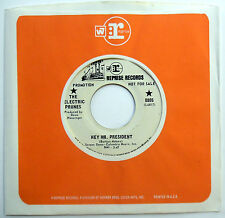 ELECTRIC PRUNES 45 Hey Mr President / Flowing Smoothly PROMO Psych GARAGE w3894