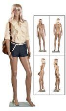 "Full Body Female Mannequin Glass Base Clothing Chest 33"" 5' 9"" Plastic Size 6"