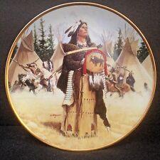 "Hamilton Porcelain Plate 23K Gold Rim Pine Leaf 8.5"" by David Wright # 0040A"