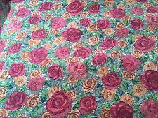Liberty Silk Crepe 100%, 'Kilburn Rose' Orange (0.45m x 1.35m) dress fabric