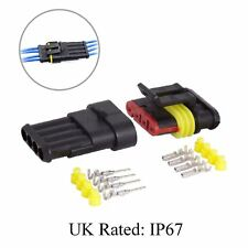 Waterproof 4 Way Pin Electrical Wire Joint Superseal Connector / UK Rated: IP67