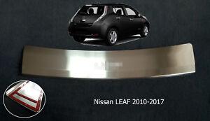 Rear Bumper Profiled Sill Plate Guard Scuff Protectors fit Nissan Leaf 2010-2017