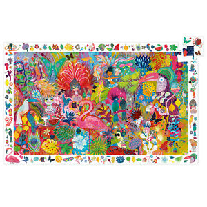 Djeco Rio Carnival Jigsaw Puzzle   Beautiful Childrens Jigsaw Puzzle   + poster