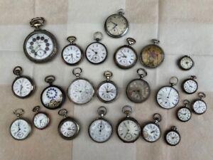 Konvolut alter Taschenuhren 23 Stück für Bastler 1890-1940